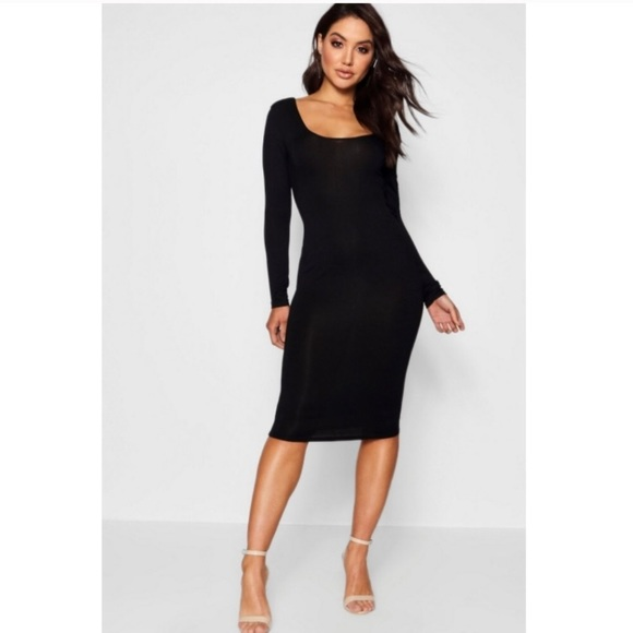 ASOS by BooHoo Bodycon Black Long Sleeve Dress